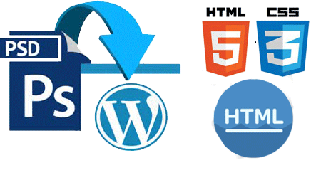 Conversion (PSD to Html, Html to Bootstrap, Html to Php, HTML to Wordpress etc)
